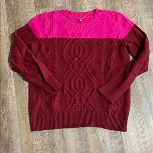 Merona two tone sweater